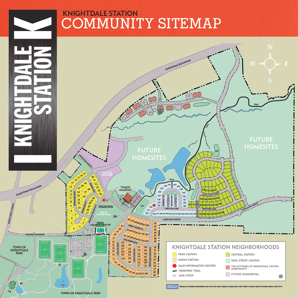 Knightdale Station Community Sitemap